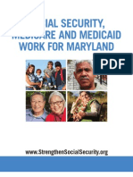 Social Security, Medicare and Medicaid Work For Maryland 2012