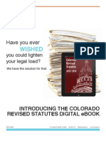 Colorado Revised Statutes Now an eBook