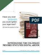 Colorado Revised Statutes Now an eBook