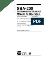 Celm - SBA200 User Manual