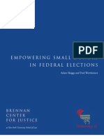 Empowering Small Donors in Federal Elections