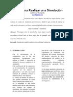 PASOS PARA REALIZAR UN ESTUDIO DE SIMULACIÓN