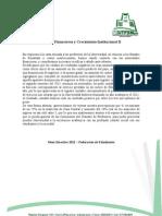 Estados Financieros y Crecimiento Institucional II