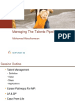 Managing the Talents Pipelines