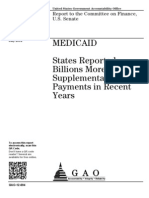 MEDICAID States Reported  Billions More in  Supplemental  Payments in Recent  Years