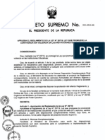 D.S. Nº 010 - 2012-ED. REGLAMENTO LEY 29719 CONVIVENCIA SIN VIOLENCIA