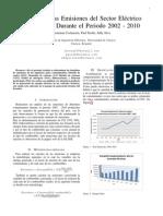 Calculo de Las Emisiones Del Sector Electrico Ecuatoriano