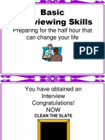 Basic Interview Skills
