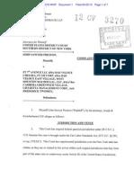 Retaliation Suit in Bar Veloce case