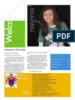 Back to School Welcome Newsletter