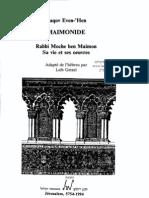 Ben Maïmon Moché - Sa vie et ses oeuvres