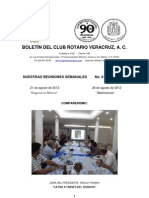 Boletín Rotario del 21 de agosto de 2012