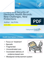 Privacy and Security of Electronic Health Records (EHRs)