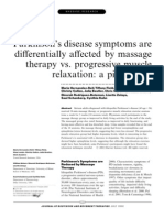 Parkinson's disease symptoms are differentially affected by massage therapy vs. progressive muscle rel