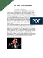 Por Que Chavez Quiere Aplastar a Capriles