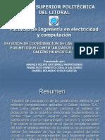 ESTUDIOS DE COORDINACIÓN DE LAS PROTECCIONES ELECTRICAS