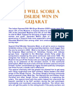 Modi Will Score a Landslide Win in Gujarat