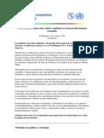 Carta Panamericana Sobre Salud y Ambiente en El Desarrollo Humano