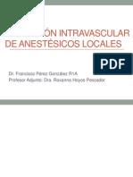 Absorción intravascular de anestésicos locales