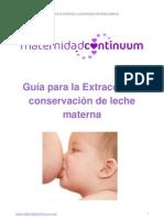 Mcontinuum Extraccion y Conservacion Leche Materna