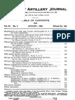 Coast Artillery Journal - Aug 1922
