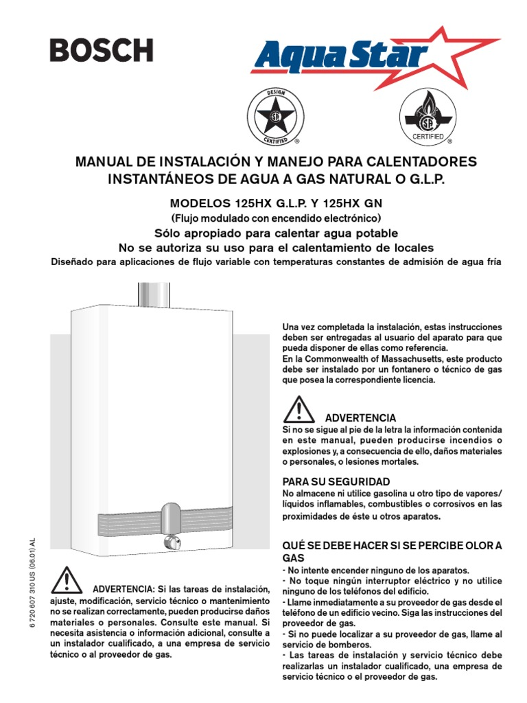 Instalacion de calentador a gas for Instalacion calentador gas