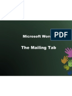 The Mailings tab in MS WORD