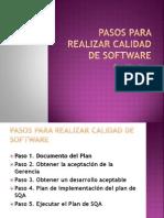 Pasos Para Realizar Calidad de Software