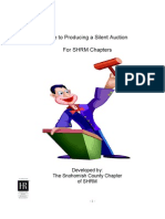 A Guide to Producing a Silent Auction
