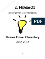 Kindergarten Class Handbook