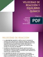 VELOCIDAD DE REACCIÓN y EQUILIBRIO QUÍMICO