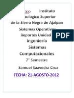 Reporte de Sistemas Operativos por Saavedra