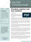 Freedom Requires Real Free Markets