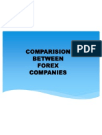 Comparision of forex companies