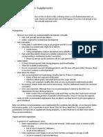 Patient Assessment Supplements
