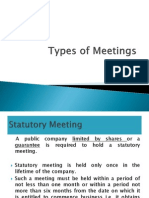 Meetings and Types