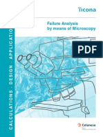 Failure Analysis by Means of Microscopy