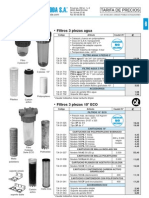 Tratamiento Agua Tarifa PVP SalvadorEscoda