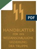 SS - Handblaetter Fuer Die Weltanschauliche Erziehung Der Truppe - Themen 6-10 (25 S., Scan)