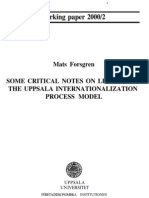 Critical Notes on Uppsala Model