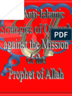 The Anti-Islamic Strategies of Quraysh Against the Mission of the Prophet of Allah