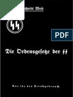 SS-Oberabschnitt West - Die Ordensgesetze Der SS (1938, 12 S., Scan, Fraktur)