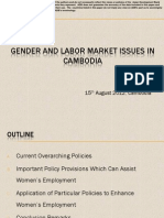Gender and Labor Market Issues in Cambodia Sreymom