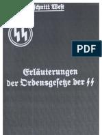 SS-Oberabschnitt West - Erlaeuterungen Der Ordensgesetze Der SS (1938, 17 S., Scan, Fraktur)