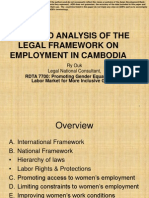 Gendered Analysis of the Legal Framework on Employment in CAM