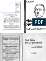Stark, Johannes - Adolf Hitlers Ziele Und Persoenlichkeit (1930, 18 Doppels., Scan, Fraktur)