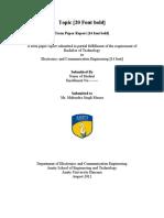 Format of Term Paper Report