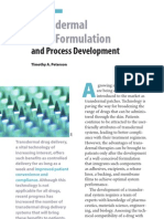 Transdermal Drug Formulation and Process Development