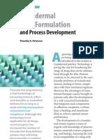 Transdermal Drug Formulation and Process Development