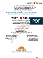 SIP on Marketing Mix Decision Making at WUERTH AUTO INDIA